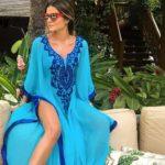 Paréo pour femme style oriental bleu