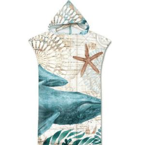 Serviette de plage pour enfant baleine