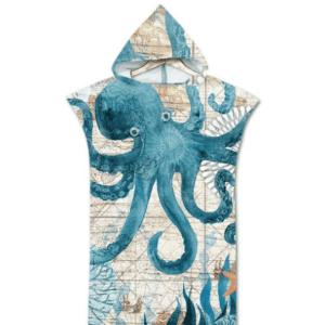 Serviette de plage pour enfant pieuvre