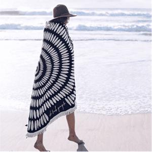 Serviette de plage ronde style boho