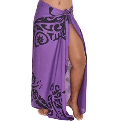Pareo tahitien fluide violet