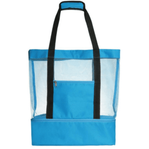 Grand sac de plage avec glacière bleu