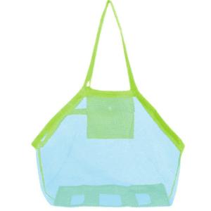 Grand sac de plage de rangement bleu