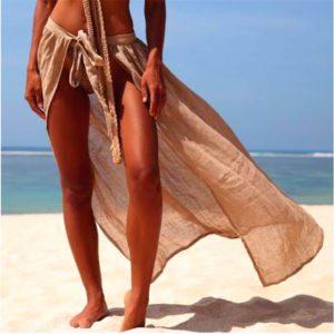 Paréo coloré avec fente avant sable