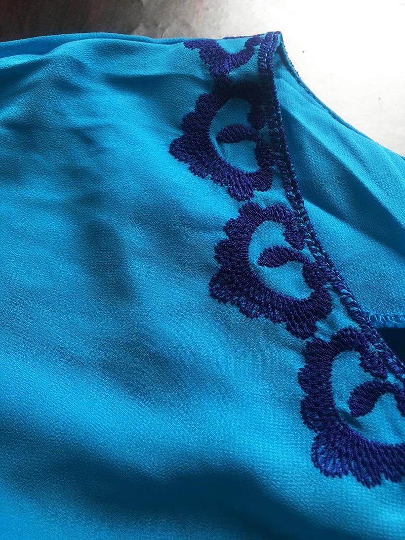 Paréo pour femme style oriental bleu detail