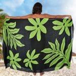 Pareo tahitien fluide vert produit