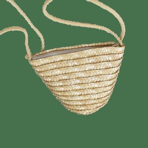 Petit sac de plage en paille à bandoulière produit