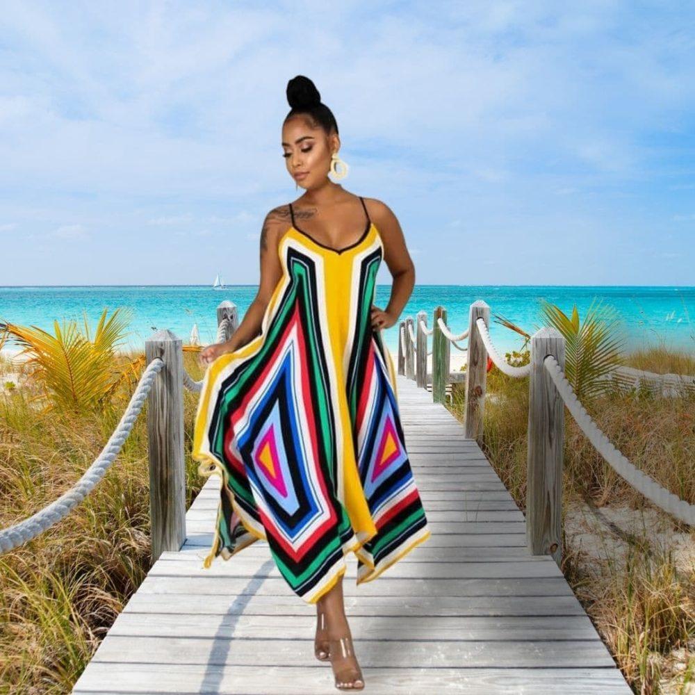 Robe de plage paréo style africain 4