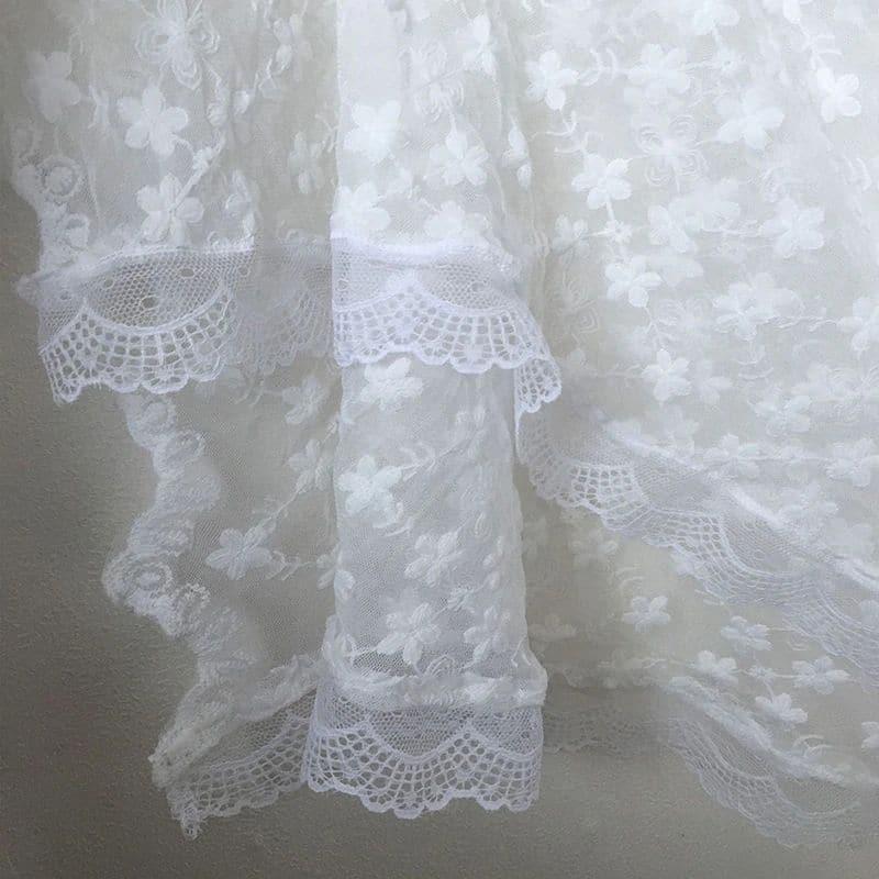 Robe longue paréo en dentelle detail