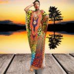 Robe paréo africain avec imprimé coloré produit