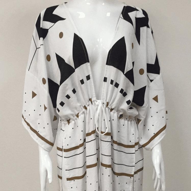 Robe de plage d'inspiration scandinave face