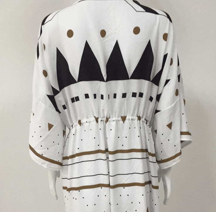 Robe de plage d'inspiration scandinave dos