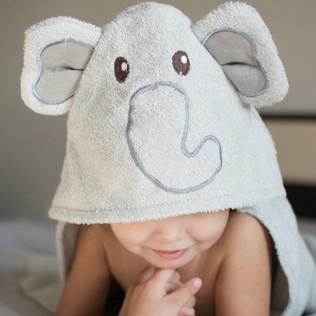 Serviette de plage à capuche pour enfant elephant