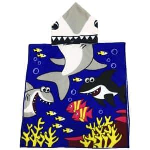 Serviette de plage pour enfant requin