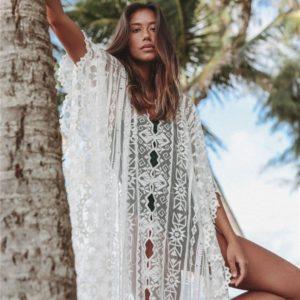 Sublime robe paréo blanche 1