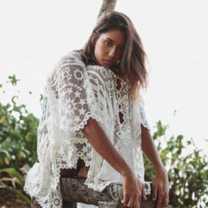 Sublime robe paréo blanche 2