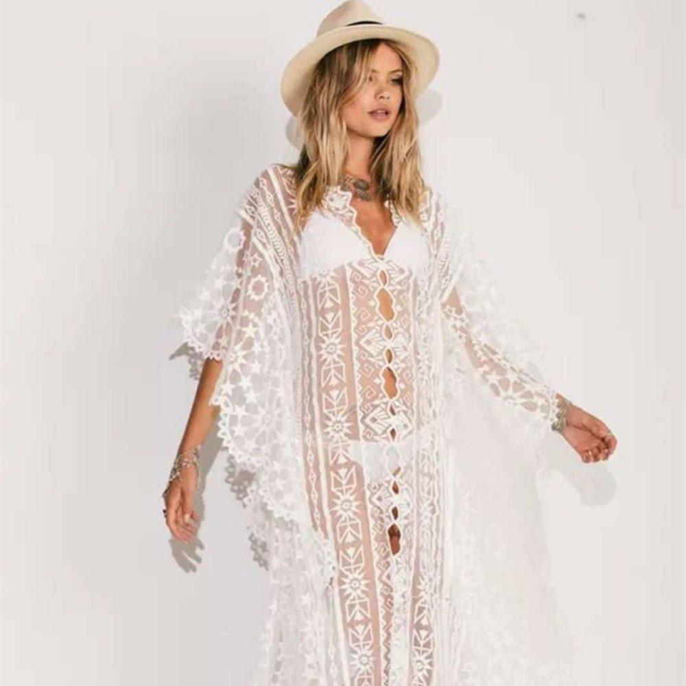 Sublime robe paréo blanche 3