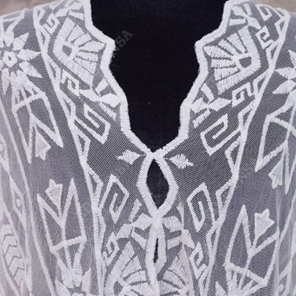 Sublime robe paréo blanche detail