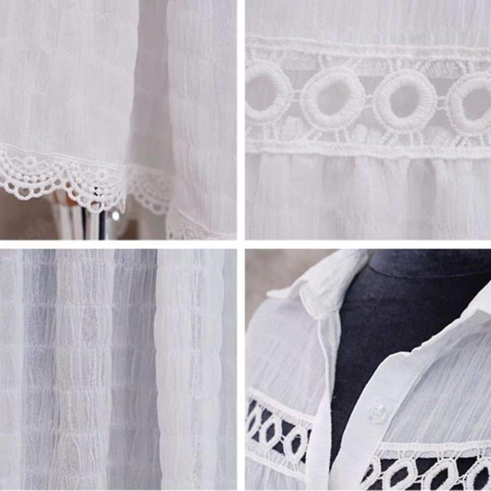 Tunique blanche paréo detail