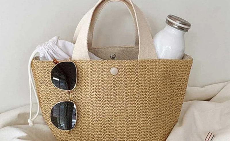 sac de plage paille