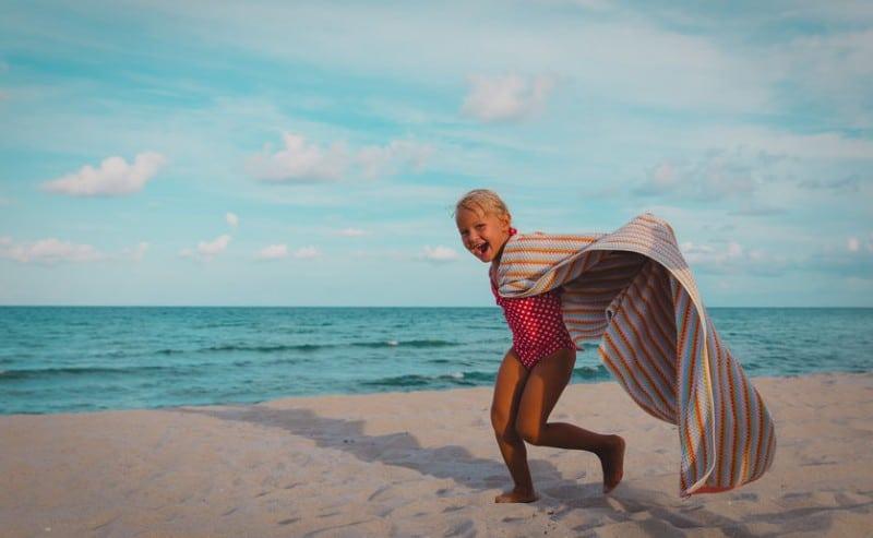 serviette de plage enfant