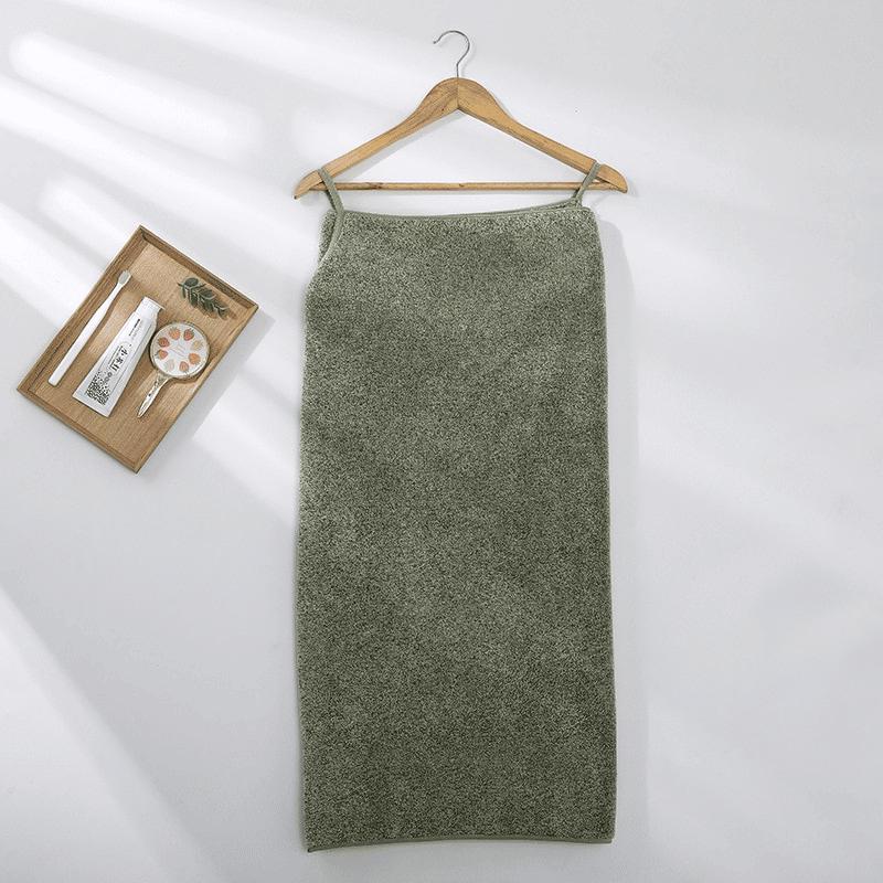 Pareo de bain éponge ultra absorbant vert