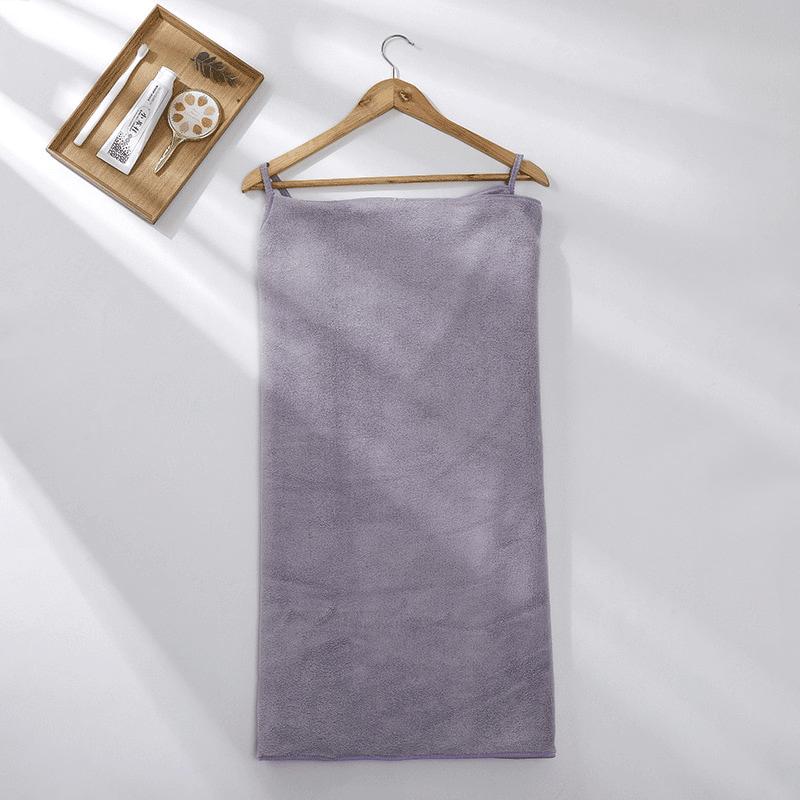 Pareo de bain éponge ultra absorbant violet clair