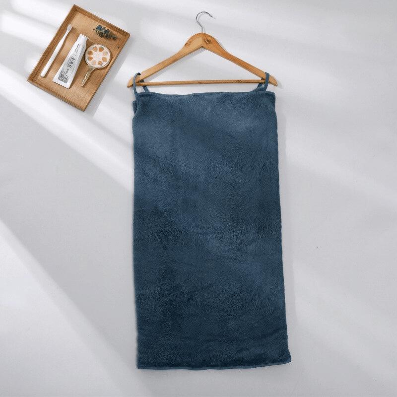 Pareo de bain éponge ultra absorbant bleu marine