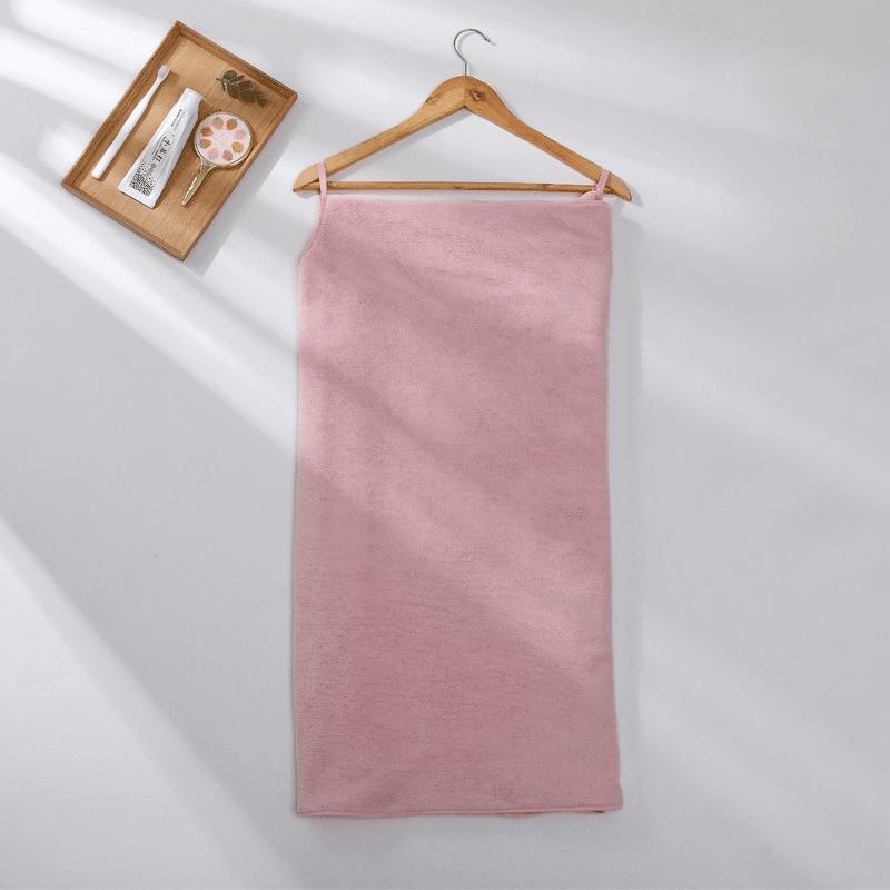 Pareo de bain éponge ultra absorbant rose