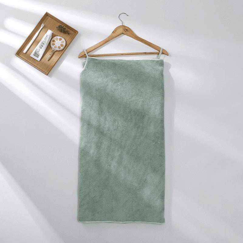 Pareo de bain éponge ultra absorbant vert clair
