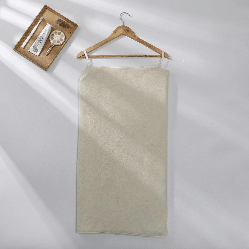 Pareo de bain éponge ultra absorbant beige