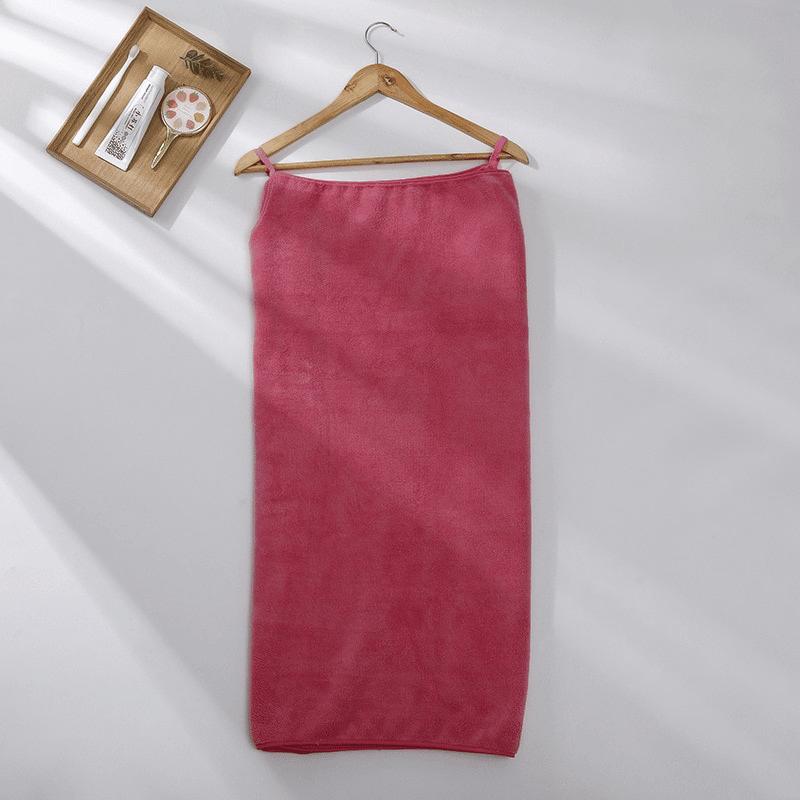 Pareo de bain éponge ultra absorbant fushia
