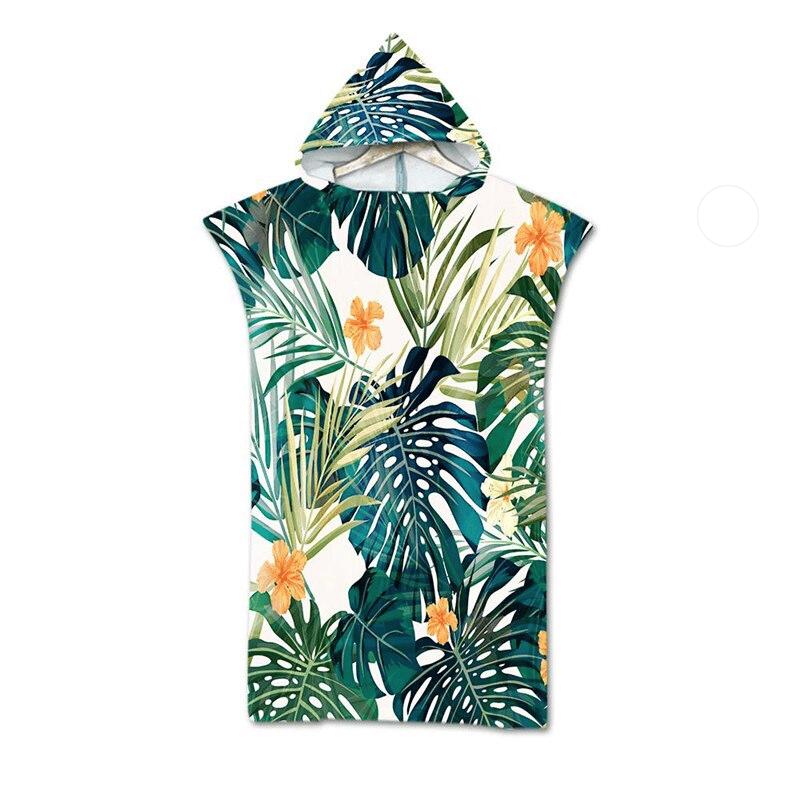 Serviette de plage à capuche tropicale jungle