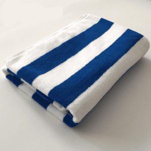Serviette de plage en coton rayé