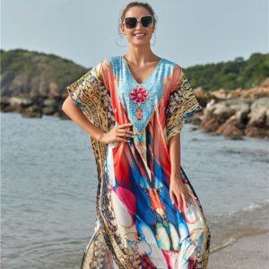 Robe paréo multicolore face 2