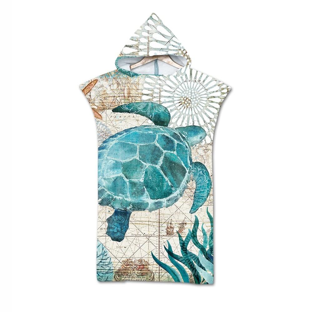 Serviette de plage pour enfant tortue
