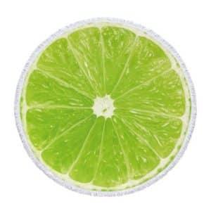 Serviette de plage ronde fruits citron vert