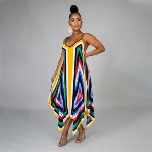 Robe de plage paréo style africain
