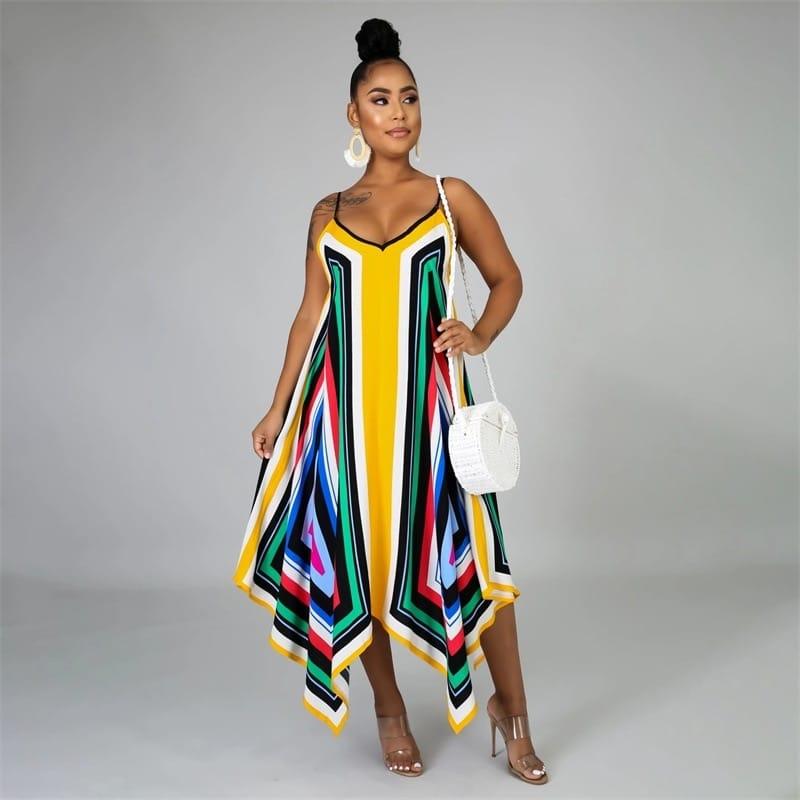 Robe de plage paréo style africain 2