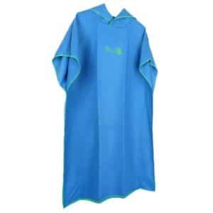 Serviette de plage à capuche unie bleu