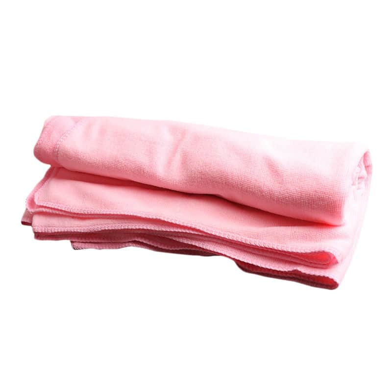 Serviette de plage en fibres absorbantes rose