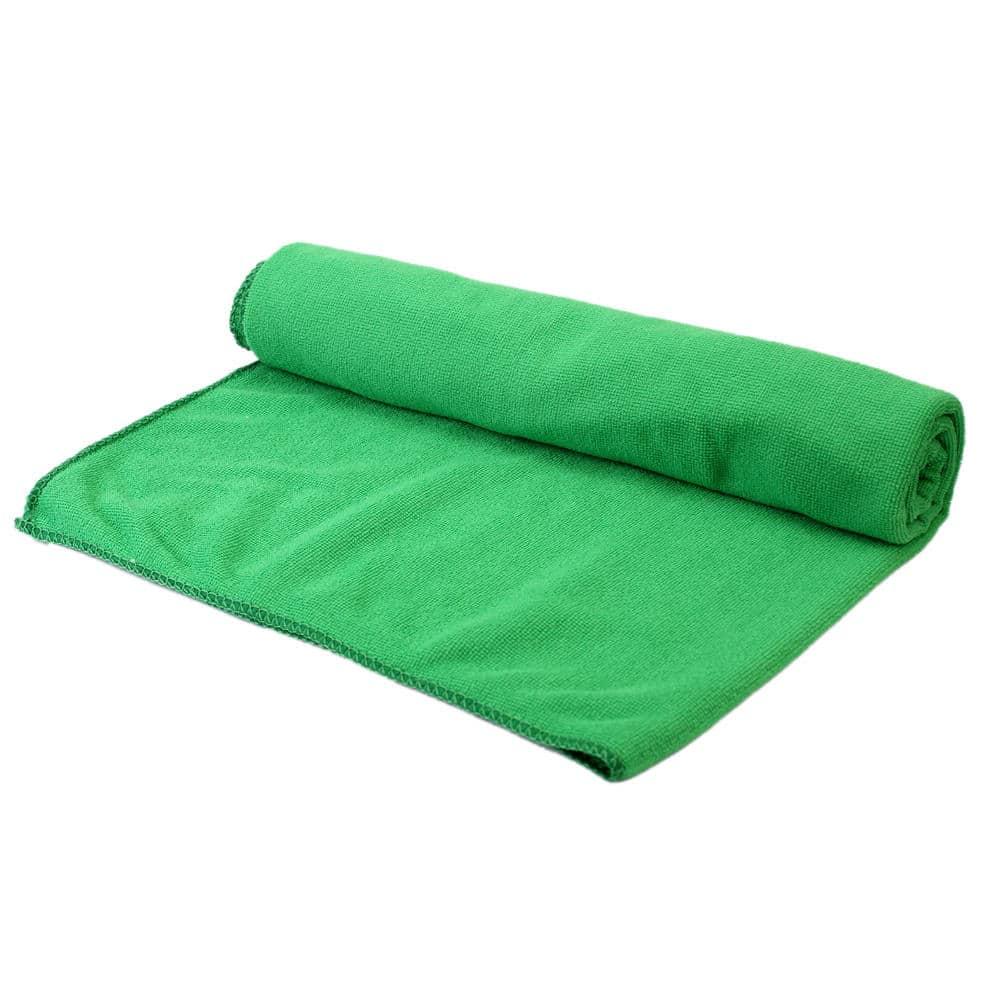 Serviette de plage en fibres absorbantes vert