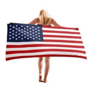 Serviette de plage en microfibre drapeaux Etats-Unis