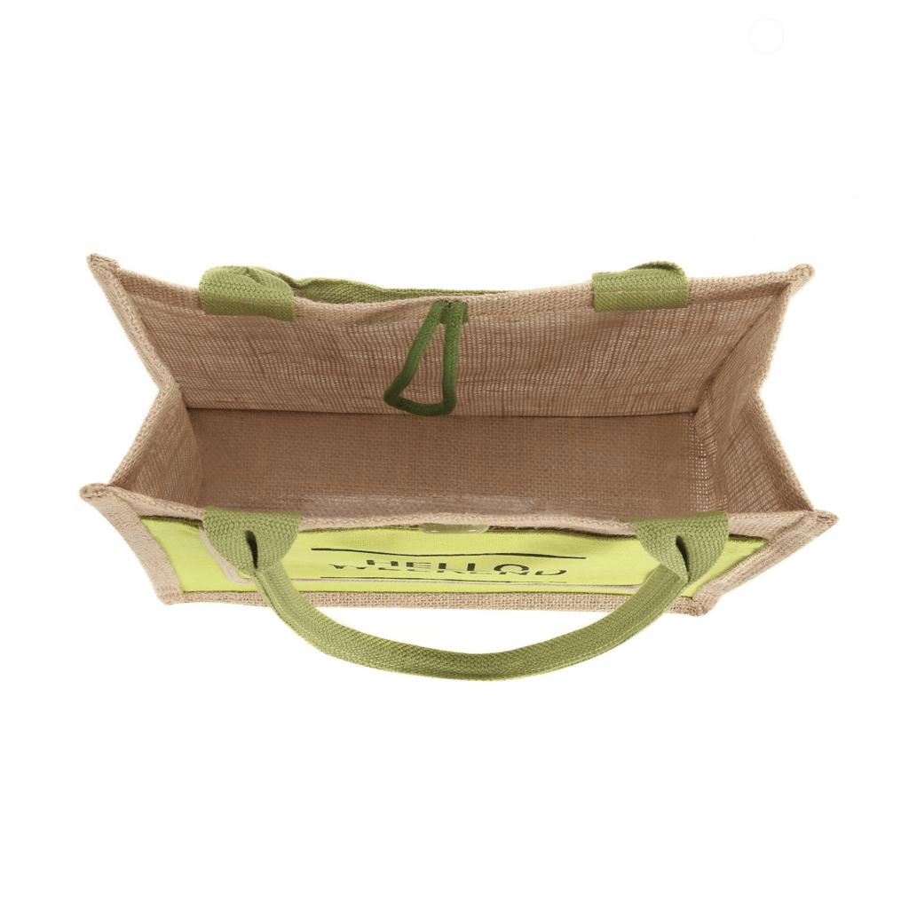 Grand sac de plage en lin décontracté detail