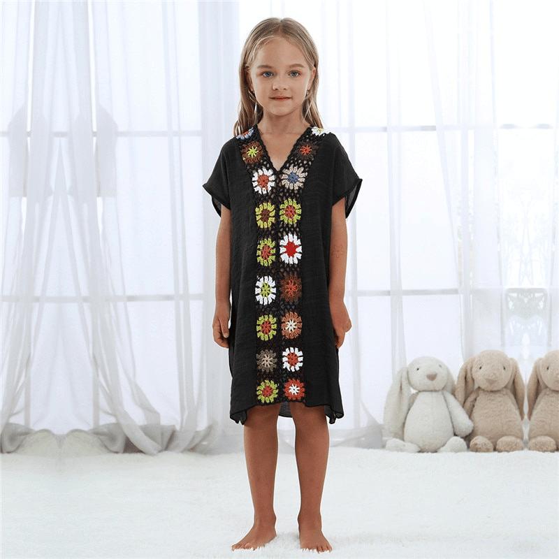 Robe pareo ethnique pour enfant noir