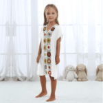 Robe pareo ethnique pour enfant blanc