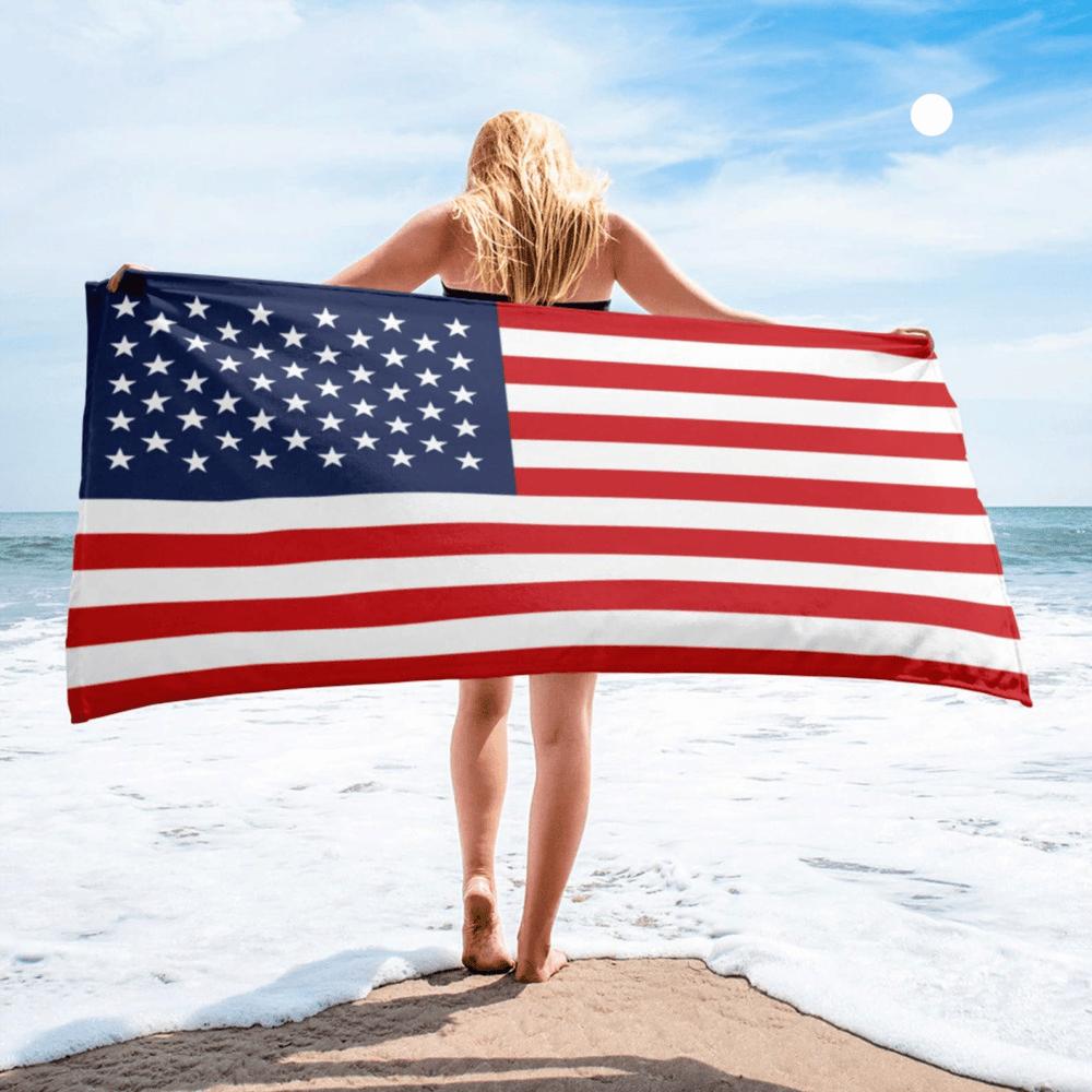 Serviette de plage en microfibre drapeaux Etats-Unis 2