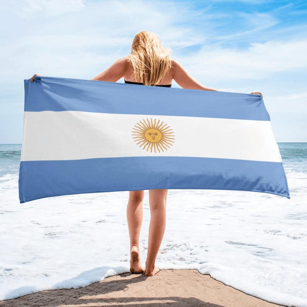 Serviette de plage en microfibre drapeaux Argentine