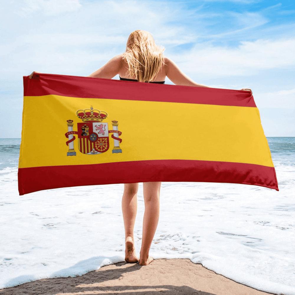 Serviette de plage en microfibre drapeaux Espagne