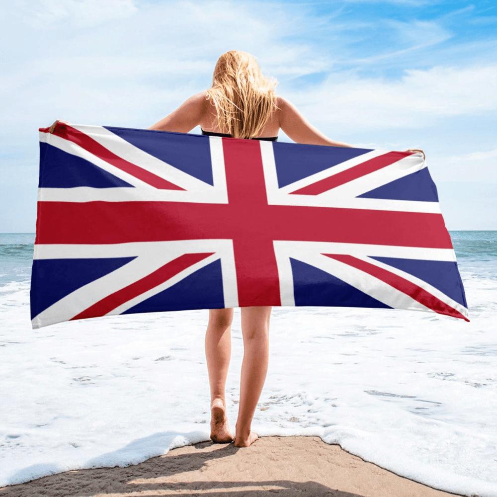Serviette de plage en microfibre drapeaux Grande-Bretagne